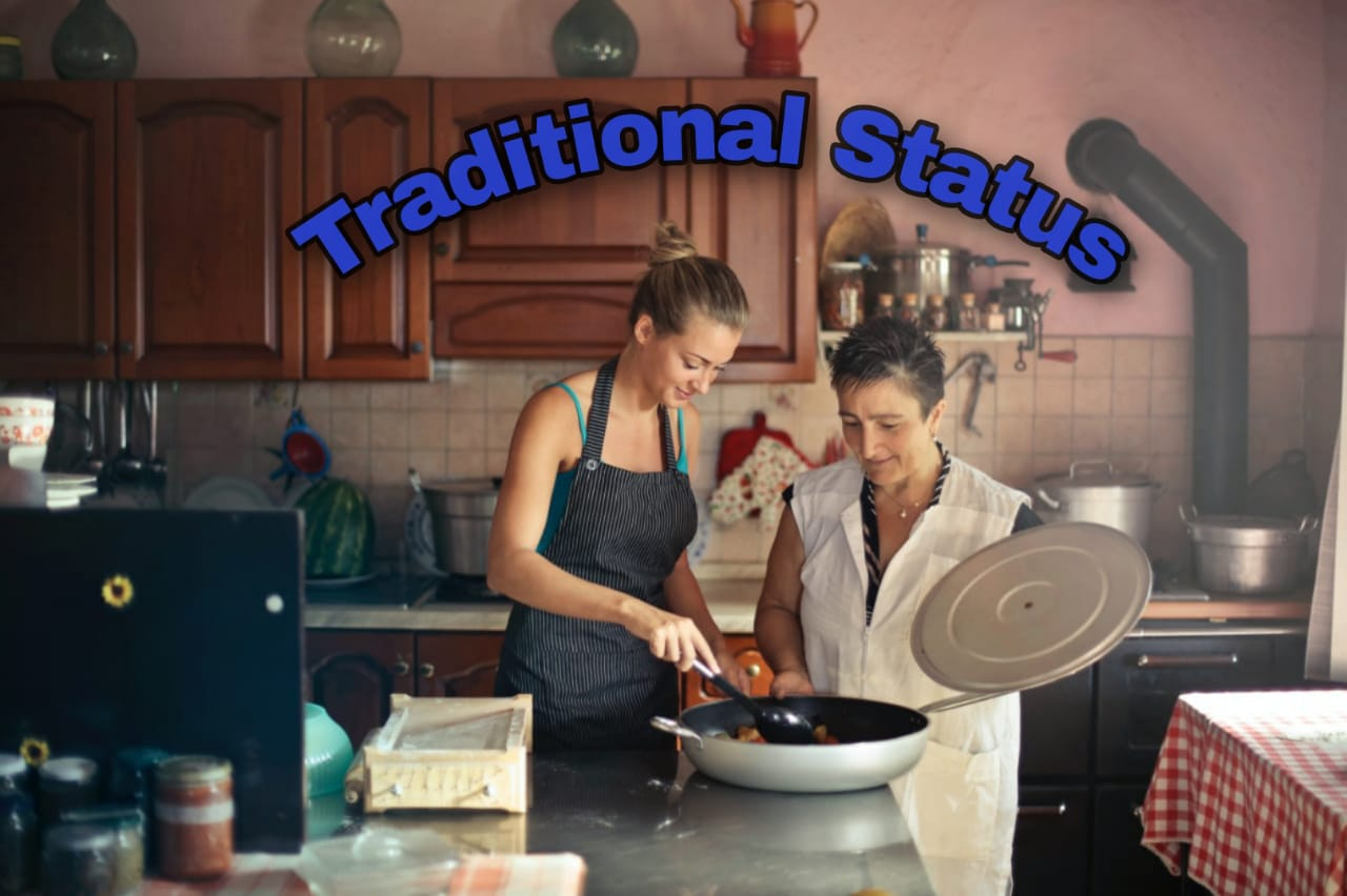 Traditional status way of cooking
