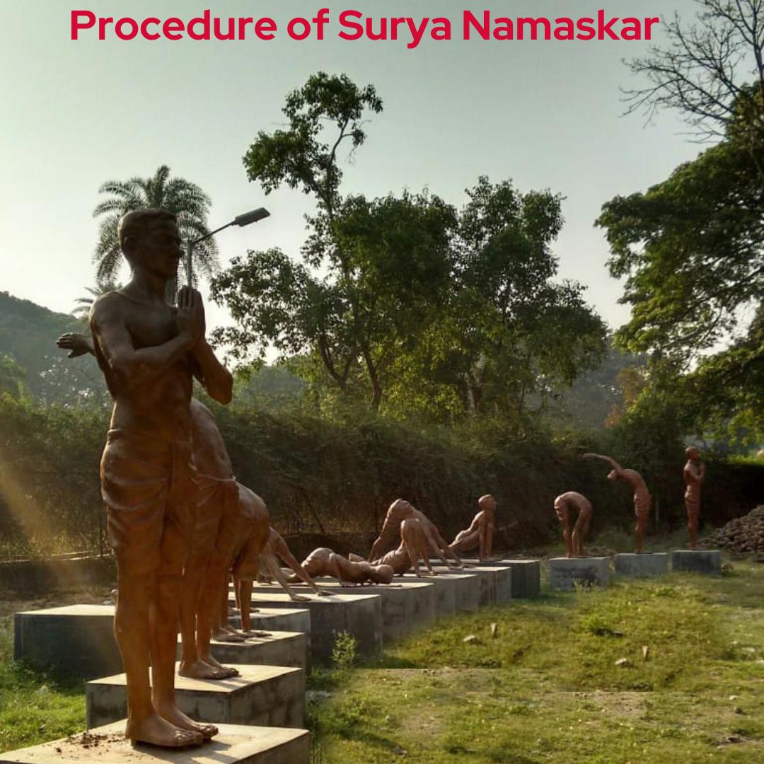 Procedure for Surya Namaskar