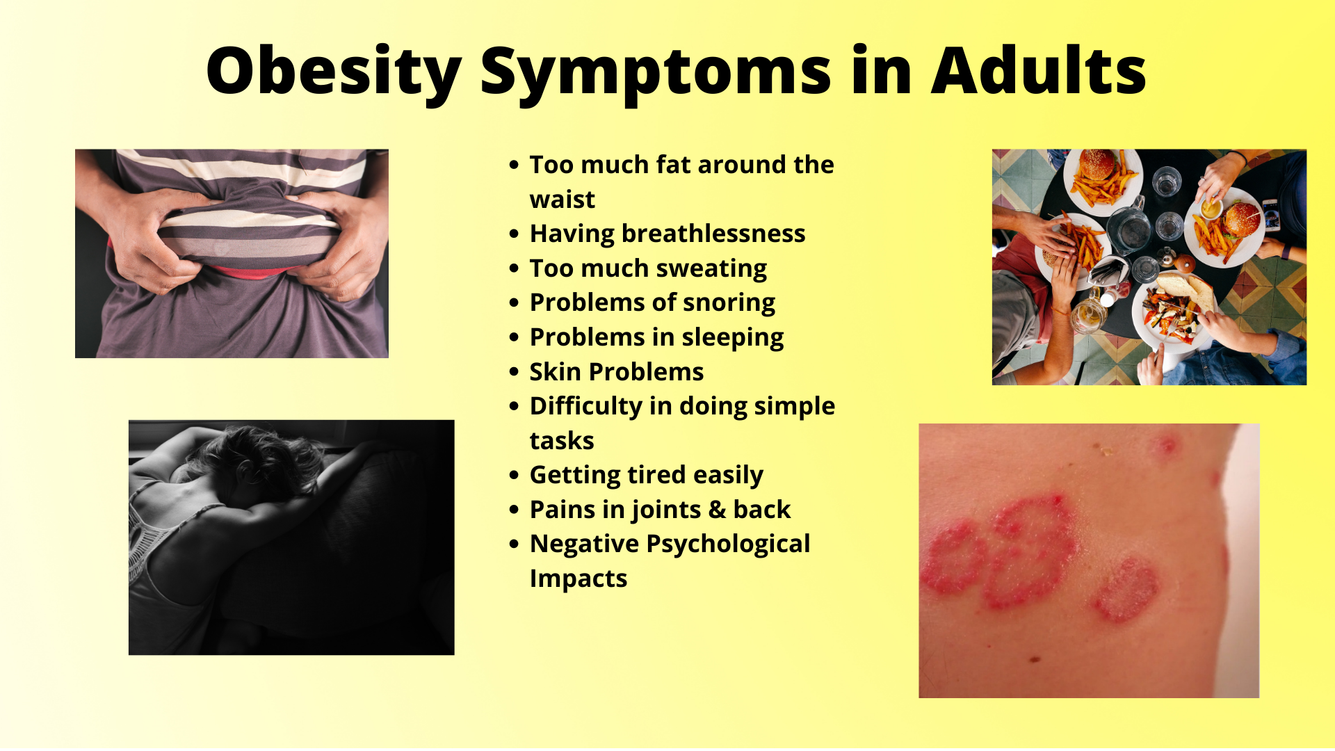 Symptoms in Adults